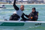 Sailing - Para World Sailing Championships 2015, Royal Yacht Club of Victoria, Williamstown (Aus). 2/12/2015. Photo: Teri Dodds. Happy Days - 2015 Skud 18 World Champions Daniel Fitzgibbon and Leisl Tesch